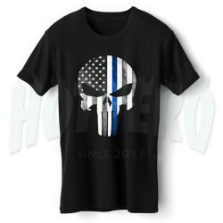 American Flag Punisher Skull Graphic T Shirt