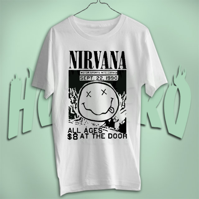 Nirvana Grunge Vintage Rock Tour T Shirt