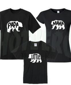 Papa Bear Mama Bear Little Bear Family T shirt