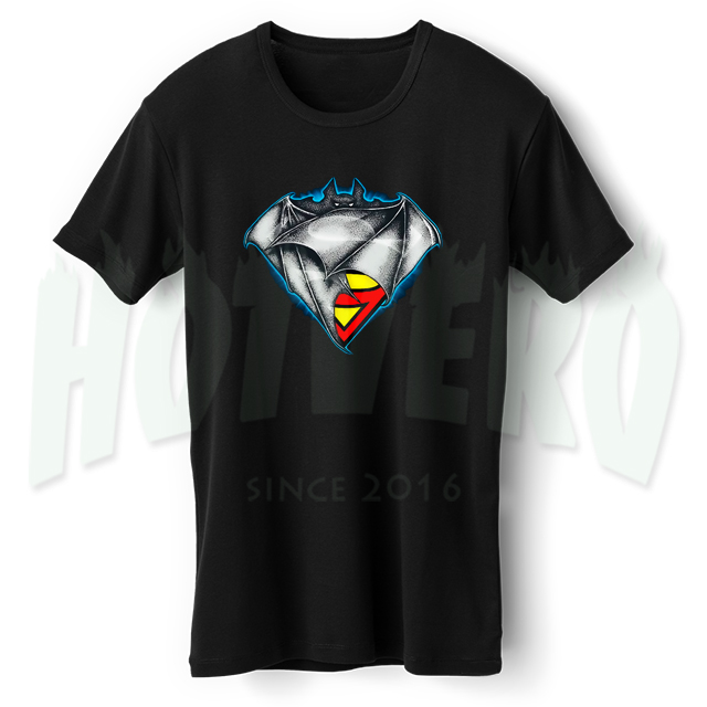 Batman & Superman Classic Logo T Shirt