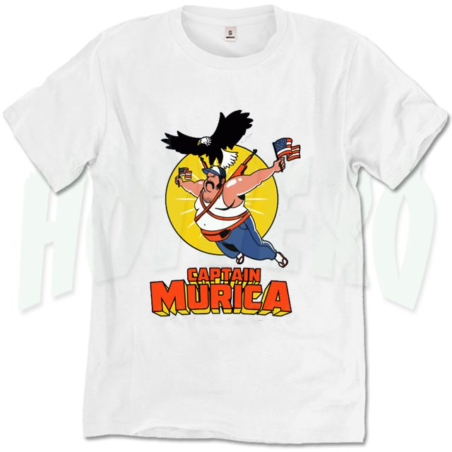 Captain Murica Funny Character T Shirt
