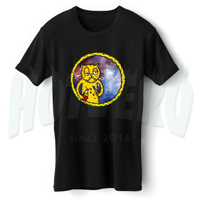 Cat Wasted Youth Crew T Shirt