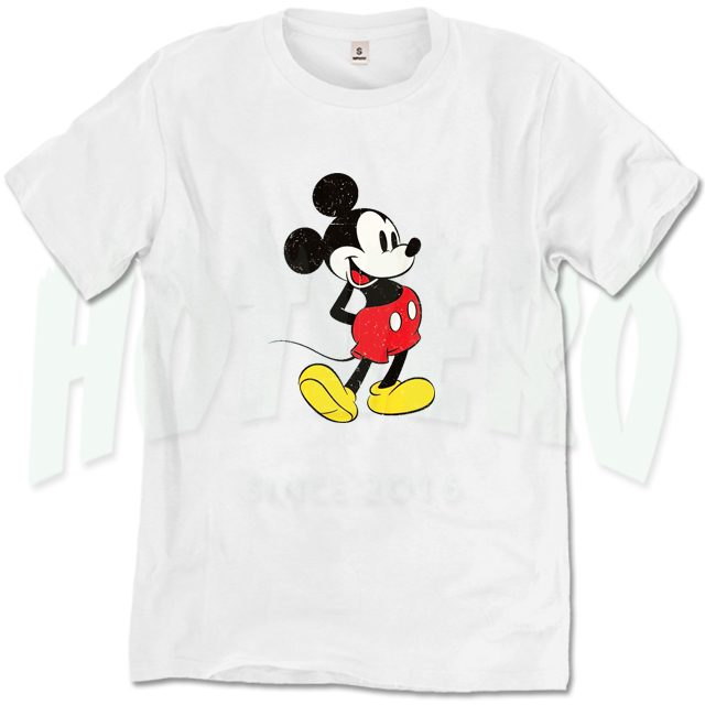 Classic Mickey Mouse T Shirt Design