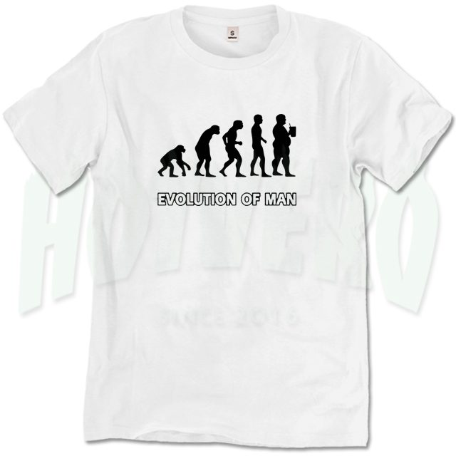 Evolution Of Beer Man T Shirt