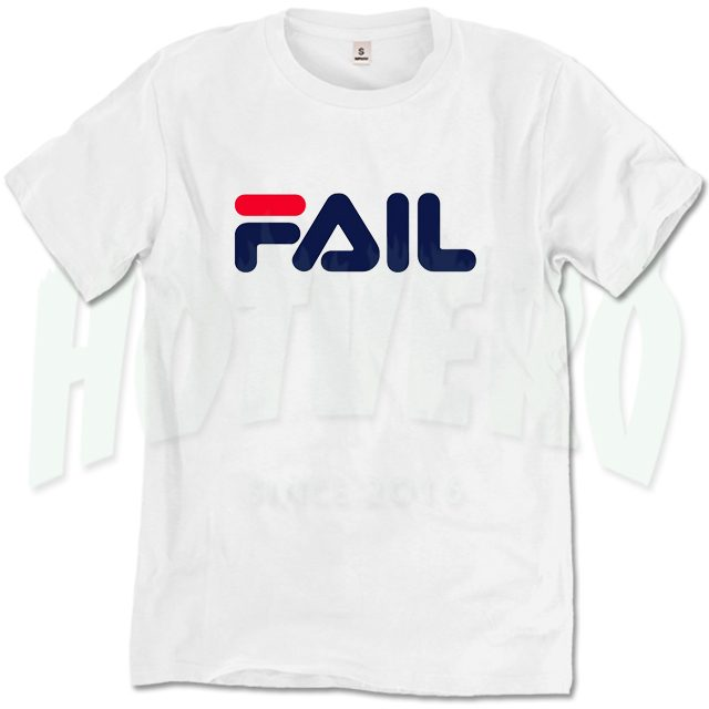 Fail Fila Symbol Inspired T Shirt