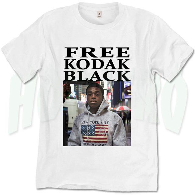 Kodak Black White T-Shirt Lil Big pac