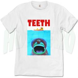 Funny Jaws Movie Teeth T Shirt