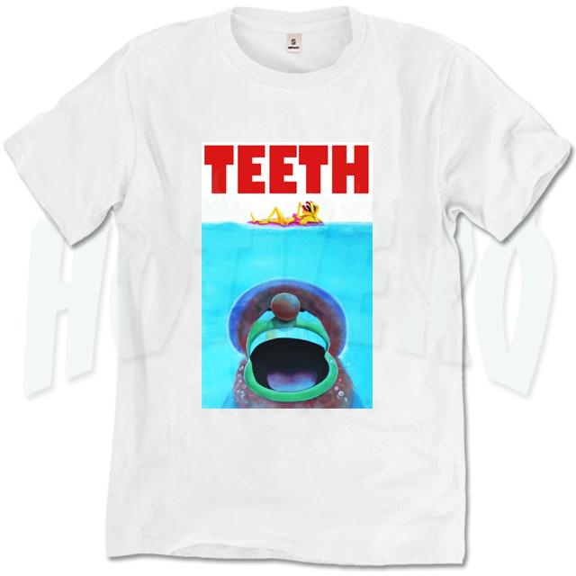 Funny Jaws Movie Teeth T Shirt