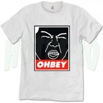 Funny Ohbey Face Obey Inspired T Shirt