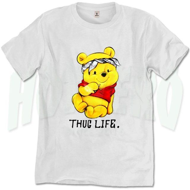 Funny Winnie The Pooh Thug Life T Shirt