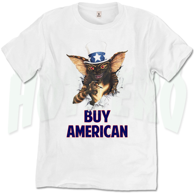 Gremlin Buy American Quote 80s Movie T Shirt