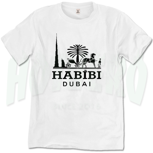 habibi dubai camel parody t shirt funny tee hotvero. Black Bedroom Furniture Sets. Home Design Ideas