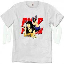 Mia Wallace Pulp Fiction Smoking T Shirt
