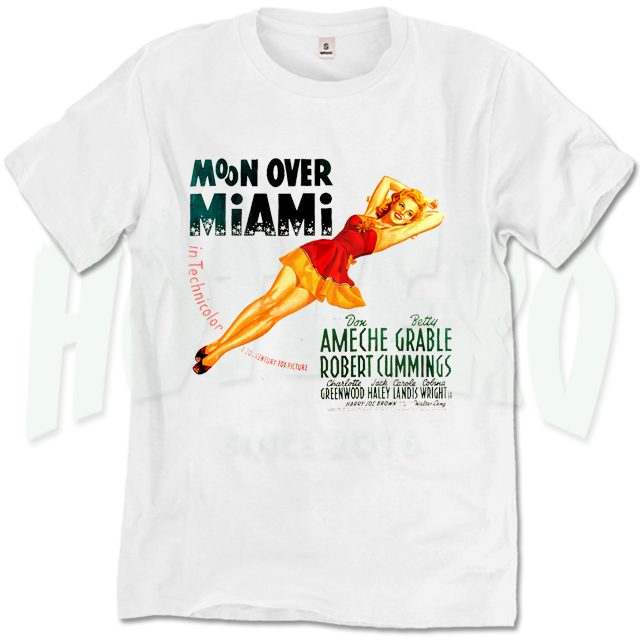 Moon Over Miami Classic Movie T Shirt