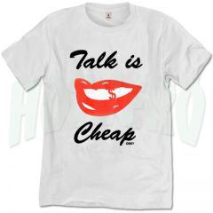 Obey Saying Talk Is Cheap T Shirt