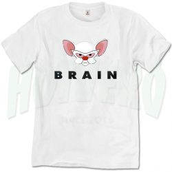Pinky Brain Character Vintage Movie T Shirt