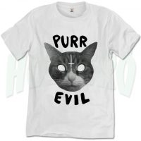 Purr Evil Cat Satanic T Shirt