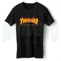 Thrasher Skateboard Flame Symbol T Shirt
