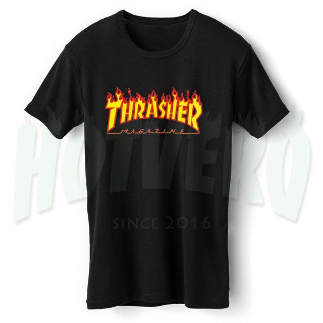 Thrasher Skateboard Flame Symbol T Shirt