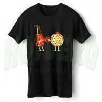 Vintage Pizza Beer Couple T Shirt