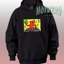American Pop Art DJ Dog Dancing Urban Hoodie Style