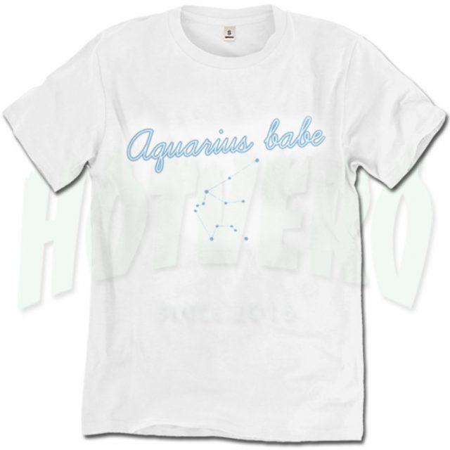 Aquarius Feminist Babe Cute T Shirt For Women