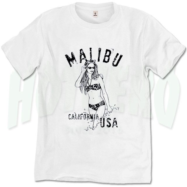 b10e4157634c Beach Party Malibu California USA T Shirt - HotVero