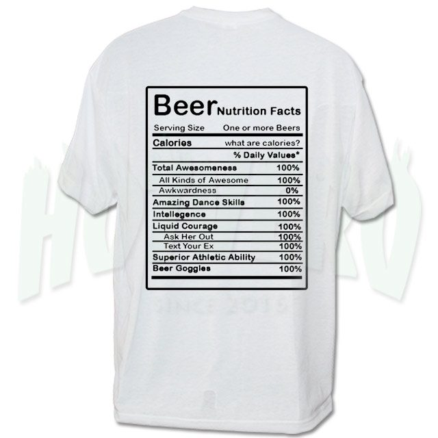 Beer Nutrition Facts Urban T Shirt