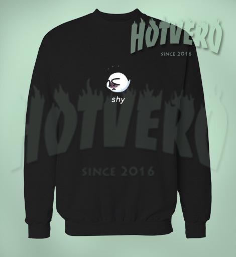 Black Ghost Pika Boo Shy Halloween Sweatshirt