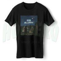 Blurry Japanesse Urban Streetwear T Shirt