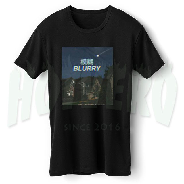 Blurry Japanesse Urban Streetwear T Shirt