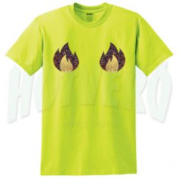 Boob Glitter Fire T Shirt Cute Urban Clothing
