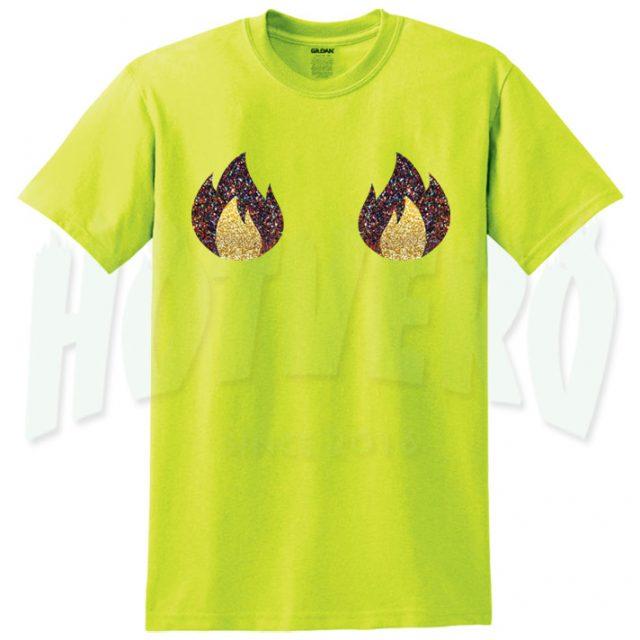 Boob glitter fire t shirt cute urban clothing hotvero for Urban streetwear t shirts