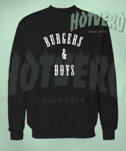 Burgers And Boys Sweatshirt Urban Clothing