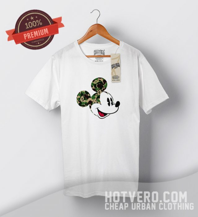 Cute Bape Mickey Mouse Collaboration Urban T Shirt