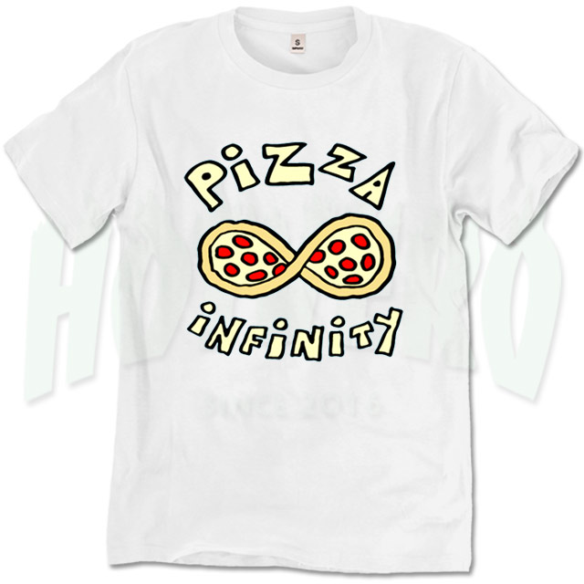 fcd2f3cbb Cute Pizza Infinity Urban T Shirt Design - HotVero