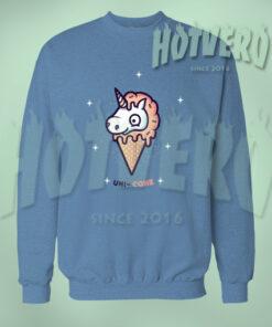 Cute Unicone Light Blue Sweatshirt
