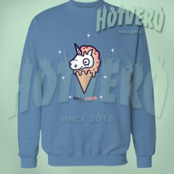 Cute Unicone Light Blue Sweatshirt