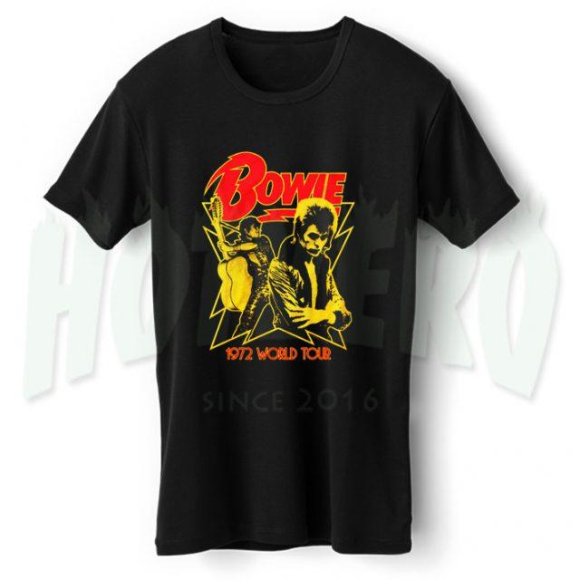 David Bowie 1972 World Tour Vintage Concert T Shirt