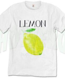 Fresh Lemon Graphic T Shirt Print