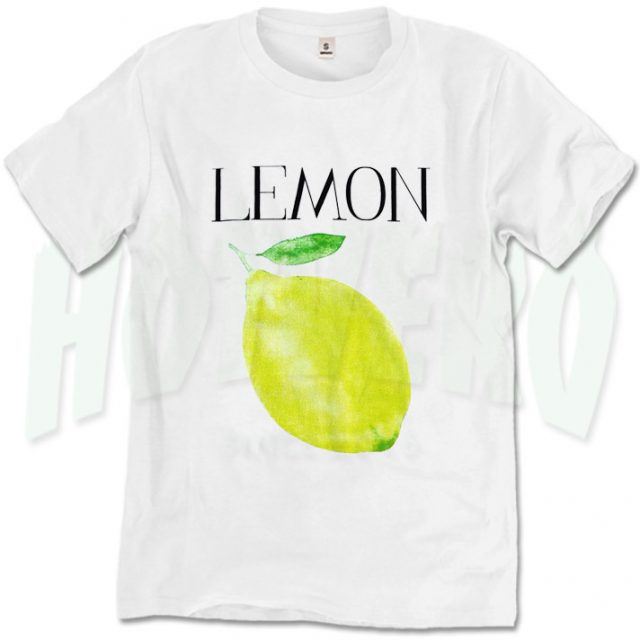 Fresh Lemon Graphic T Shirt Print