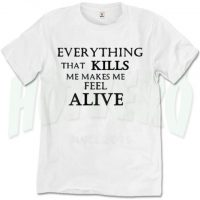 Kills Make Me Alive One Republic T Shirt Counting Stars Lyric