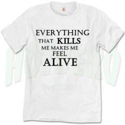 Kills Make Me Alive One Republic T Shirt Counting Stars Lyric