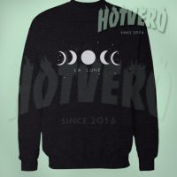 Moon Phase La Lune Art Sweatshirt