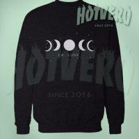 Moon Phase La Lune Art Sweatshirt