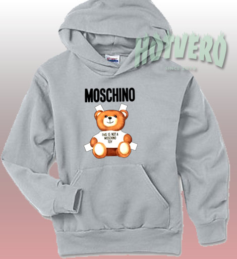 Moschino Bear Hoodie Street Fashion