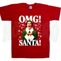 OMG Santa Funny Elf T Shirt Gift For Christmas