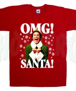 OMG Santa Funny Elf T Shirt Gift For Christmas