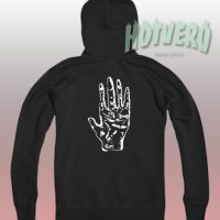 Palmistry Zodiac Left Hand Unisex Hoodie