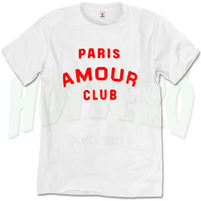 Paris Amour Club T Shirt Urban Fashion